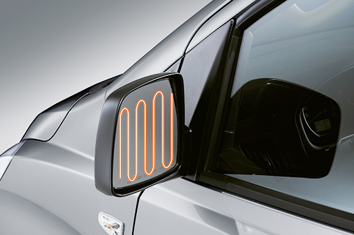h 1 design heated outside mirrors original